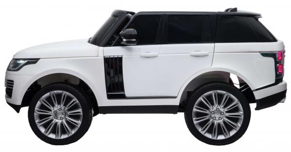 Masinuta electrica Premier Range Rover Vogue HSE, 12V, 2 locuri, roti cauciuc EVA, scaun piele ecologica, alb 3