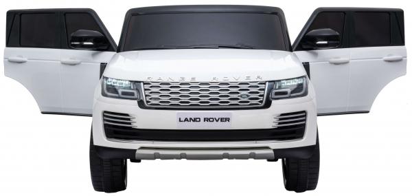 Masinuta electrica Premier Range Rover Vogue HSE, 12V, 2 locuri, roti cauciuc EVA, scaun piele ecologica, alb 8