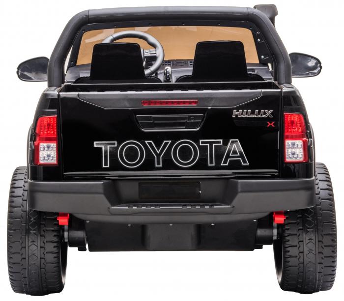 Masinuta electrica SUV Premier Toyota Hilux, 12V, 4x4, roti cauciuc EVA, scaun piele ecologica, negru [4]