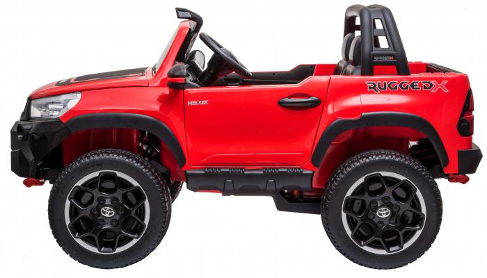 Masinuta electrica SUV Premier Toyota Hilux, 12V, 4x4, roti cauciuc EVA, scaun piele ecologica, rosu [2]