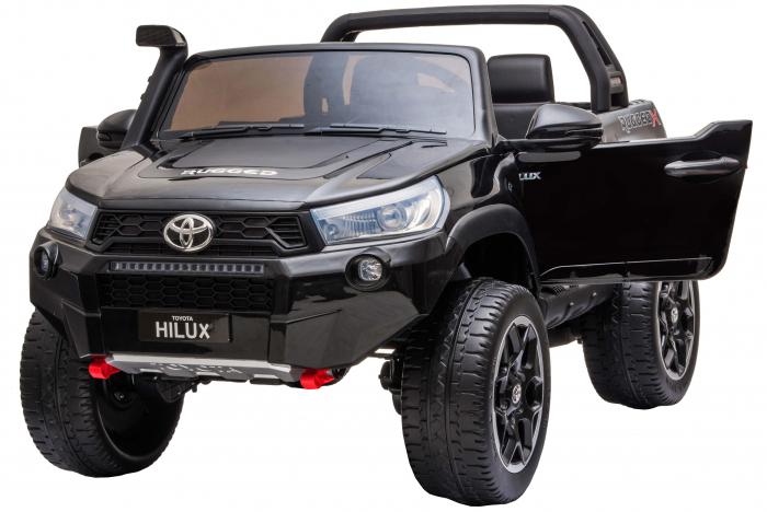 Masinuta electrica SUV Premier Toyota Hilux, 12V, 4x4, roti cauciuc EVA, scaun piele ecologica, negru [7]