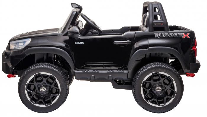 Masinuta electrica SUV Premier Toyota Hilux, 12V, 4x4, roti cauciuc EVA, scaun piele ecologica, negru [2]