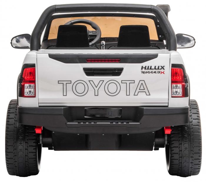 Masinuta electrica SUV Premier Toyota Hilux, 12V, 4x4, roti cauciuc EVA, scaun piele ecologica, alb [3]