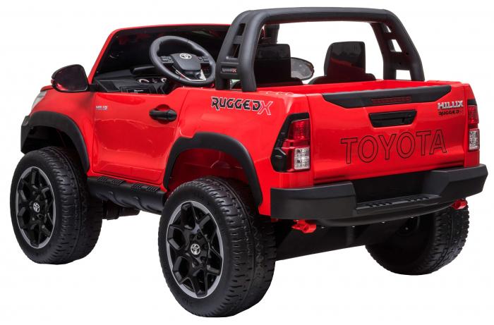 Masinuta electrica SUV Premier Toyota Hilux, 12V, 4x4, roti cauciuc EVA, scaun piele ecologica, rosu [3]