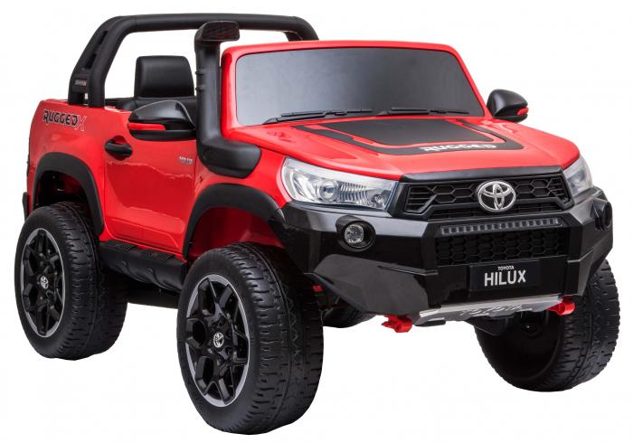 Masinuta electrica SUV Premier Toyota Hilux, 12V, 4x4, roti cauciuc EVA, scaun piele ecologica, rosu [5]