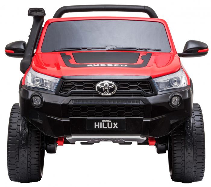 Masinuta electrica SUV Premier Toyota Hilux, 12V, 4x4, roti cauciuc EVA, scaun piele ecologica, rosu [1]