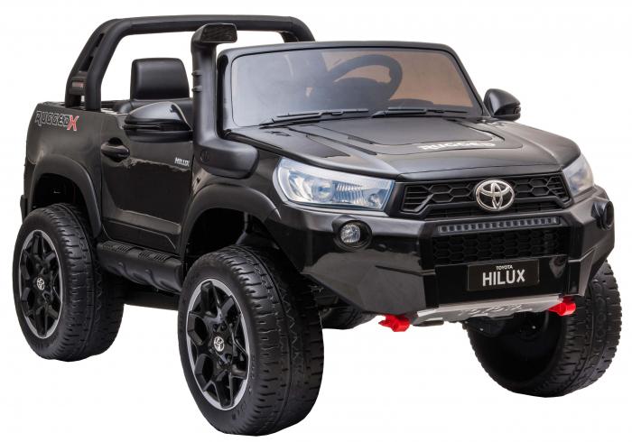 Masinuta electrica SUV Premier Toyota Hilux, 12V, 4x4, roti cauciuc EVA, scaun piele ecologica, negru [5]