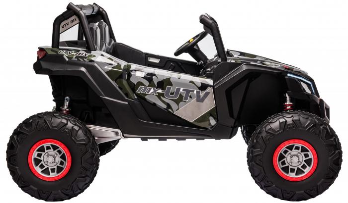 Masinuta electrica UTV Premier Dune, 24V, roti cauciuc EVA, 2 locuri, scaun piele ecologica, camuflaj [8]