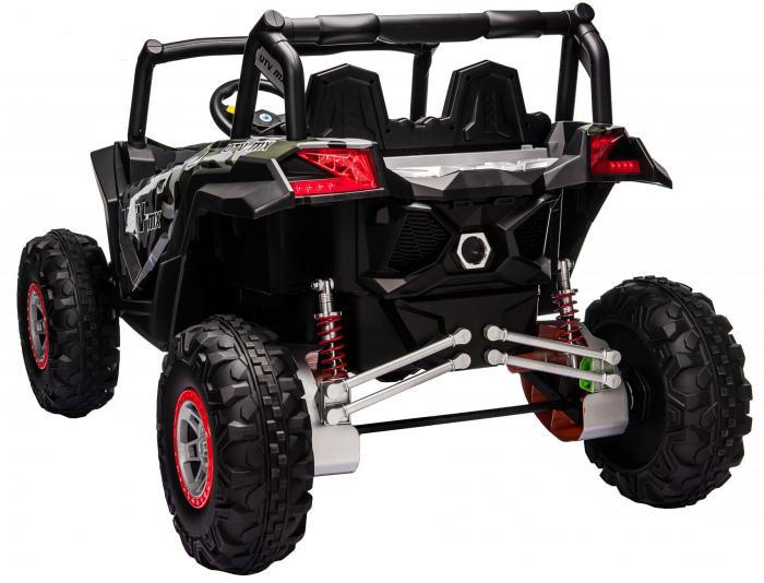Masinuta electrica UTV Premier Dune, 24V, roti cauciuc EVA, 2 locuri, scaun piele ecologica, camuflaj [5]
