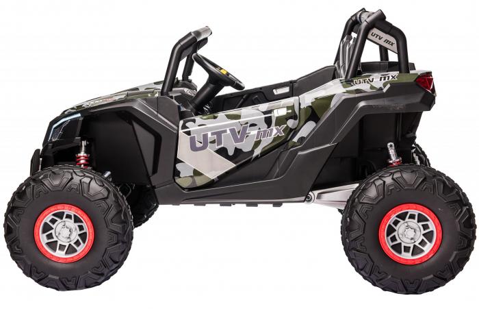 Masinuta electrica UTV Premier Dune, 24V, roti cauciuc EVA, 2 locuri, scaun piele ecologica, camuflaj [3]