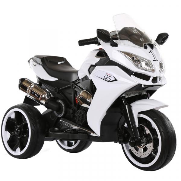 Motocicleta electrica cu 3 roti Premier Sport, 6V, 2 motoare, MP3, alb [1]