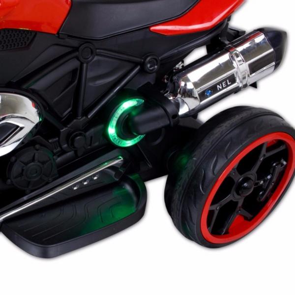Motocicleta electrica cu 3 roti Premier Sport, 6V, 2 motoare, MP3, rosu [5]