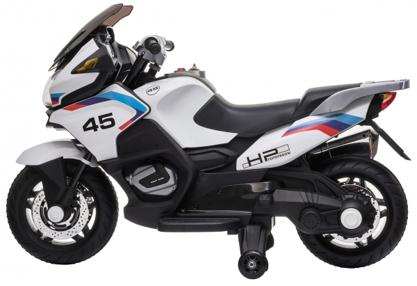 Motocicleta electrica cu 2 roti Premier Flash, 12V, roti cauciuc EVA, MP3, alba [4]