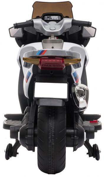 Motocicleta electrica cu 2 roti Premier Flash, 12V, roti cauciuc EVA, MP3, alba [8]