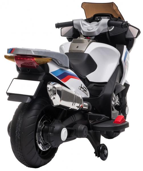 Motocicleta electrica cu 2 roti Premier Flash, 12V, roti cauciuc EVA, MP3, alba [9]