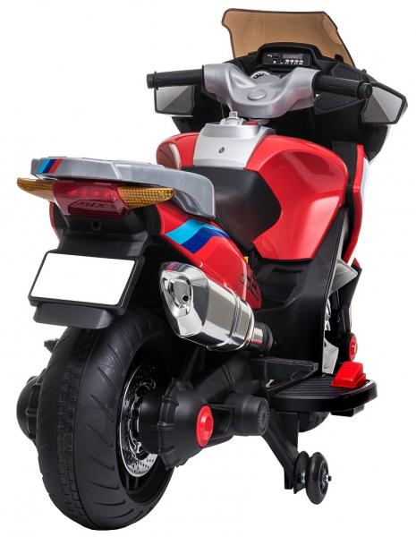 Motocicleta electrica cu 2 roti Premier Flash, 12V, roti cauciuc EVA, MP3 10