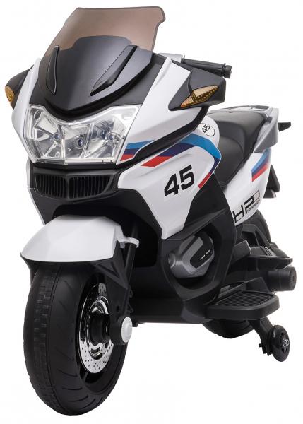 Motocicleta electrica cu 2 roti Premier Flash, 12V, roti cauciuc EVA, MP3, alba [3]