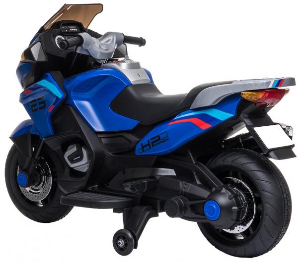 Motocicleta electrica cu 2 roti Premier Flash, 12V, roti cauciuc EVA, MP3, albastra [7]