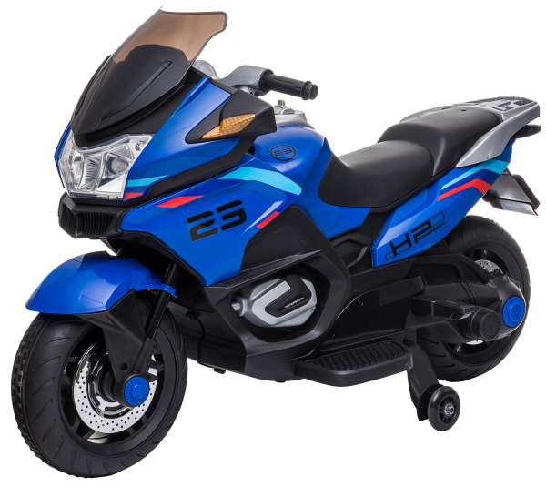 Motocicleta electrica cu 2 roti Premier Flash, 12V, roti cauciuc EVA, MP3, albastra [19]