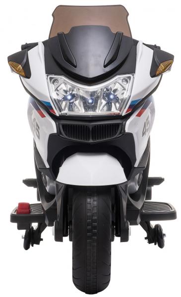 Motocicleta electrica cu 2 roti Premier Flash, 12V, roti cauciuc EVA, MP3, alba [2]