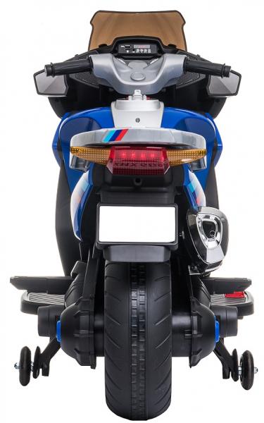Motocicleta electrica cu 2 roti Premier Flash, 12V, roti cauciuc EVA, MP3, albastra [11]