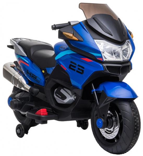 Motocicleta electrica cu 2 roti Premier Flash, 12V, roti cauciuc EVA, MP3, albastra [17]