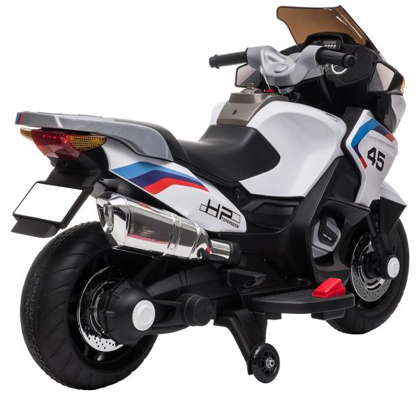 Motocicleta electrica cu 2 roti Premier Flash, 12V, roti cauciuc EVA, MP3, alba [10]