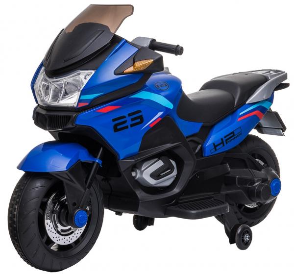 Motocicleta electrica cu 2 roti Premier Flash, 12V, roti cauciuc EVA, MP3, albastra [0]
