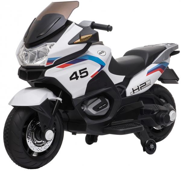 Motocicleta electrica cu 2 roti Premier Flash, 12V, roti cauciuc EVA, MP3, alba [0]