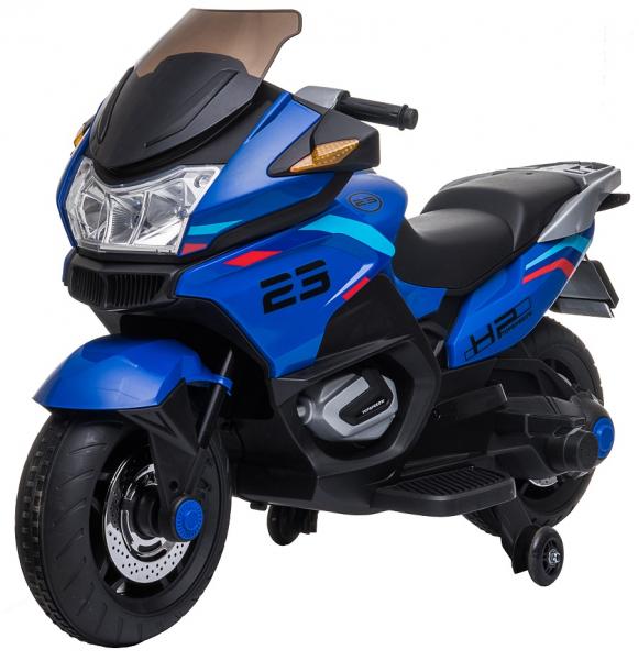 Motocicleta electrica cu 2 roti Premier Flash, 12V, roti cauciuc EVA, MP3, albastra [4]