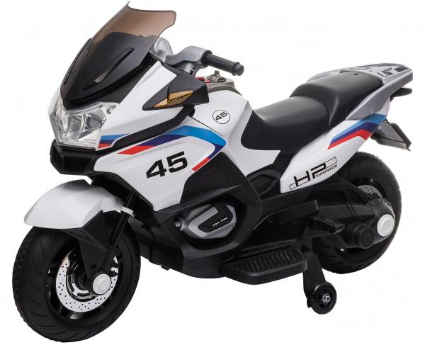 Motocicleta electrica cu 2 roti Premier Flash, 12V, roti cauciuc EVA, MP3, alba [15]