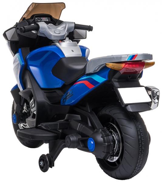 Motocicleta electrica cu 2 roti Premier Flash, 12V, roti cauciuc EVA, MP3, albastra [9]