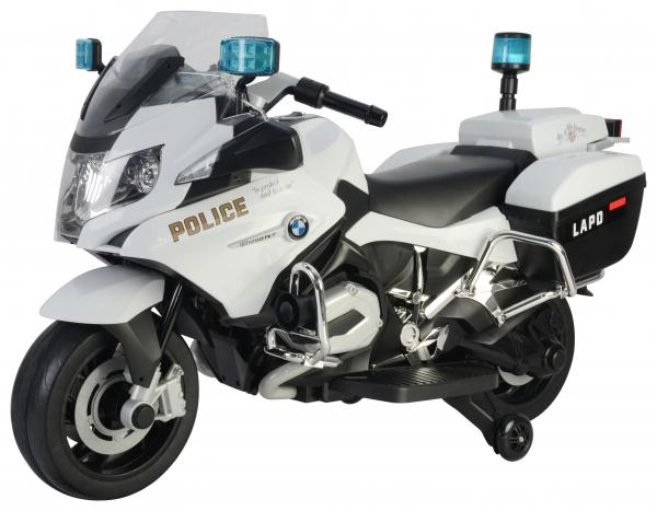 Motocicleta electrica de politie Premier BMW R1200 RT-P, 12V, girofar si sunete, roti ajutatoare 0