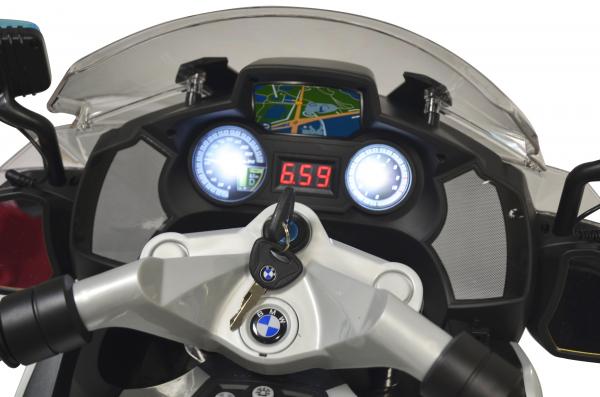 Motocicleta electrica de politie Premier BMW R1200 RT-P, 12V, girofar si sunete, roti ajutatoare 4
