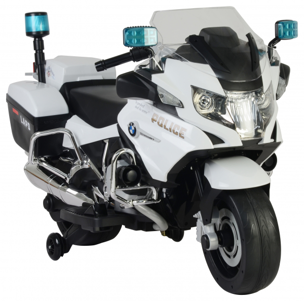 Motocicleta electrica de politie Premier BMW R1200 RT-P, 12V, girofar si sunete, roti ajutatoare 6