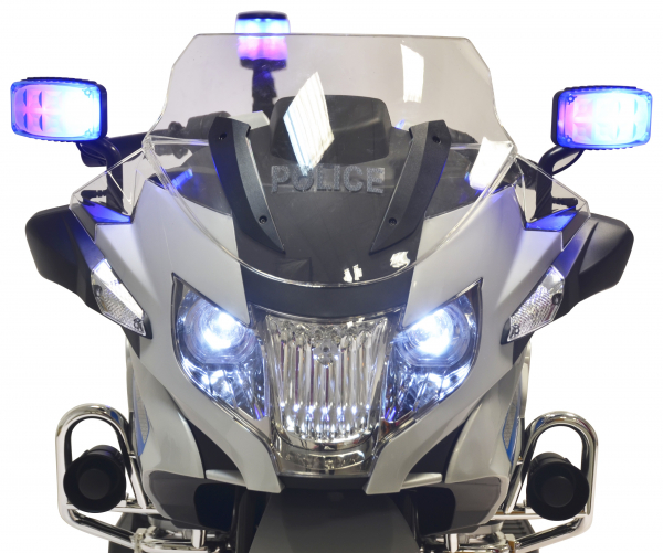Motocicleta electrica de politie Premier BMW R1200 RT-P, 12V, girofar si sunete, roti ajutatoare 3