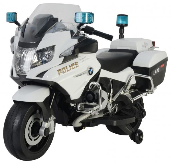 Motocicleta electrica de politie Premier BMW R1200 RT-P, 12V, girofar si sunete, roti ajutatoare 2