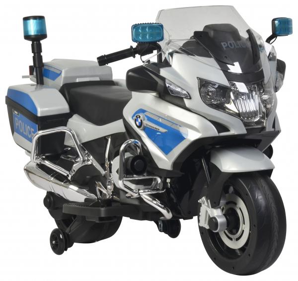 Motocicleta electrica de politie Premier BMW R1200 RT-P, 12V, girofar si sunete, roti ajutatoare 1