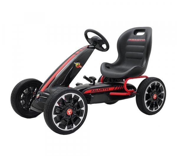 Kart Abarth negru cu pedale pentru copii [0]