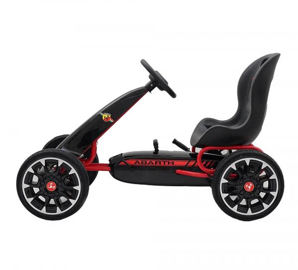 Kart Abarth negru cu pedale pentru copii [2]