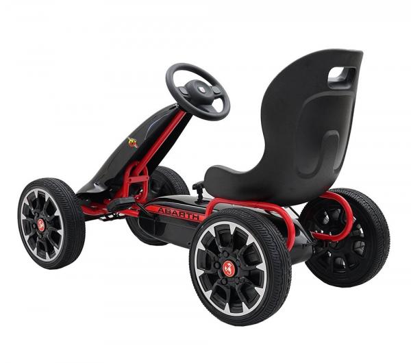 Kart Abarth negru cu pedale pentru copii [3]