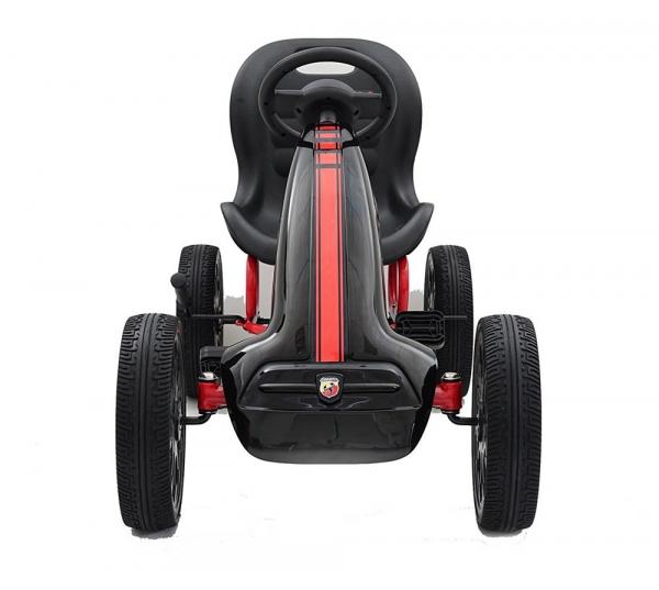 Kart Abarth negru cu pedale pentru copii [5]
