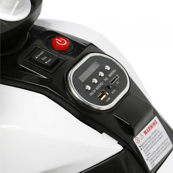 Motocicleta electrica cu 3 roti Premier HP2, 6V, 2 motoare, MP3, negru 5