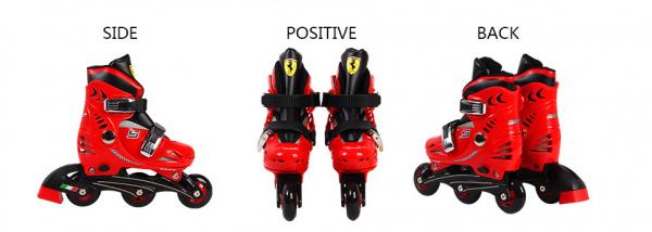 Set role reglabile Ferrari cu casca, genunchiere, cotiere 5