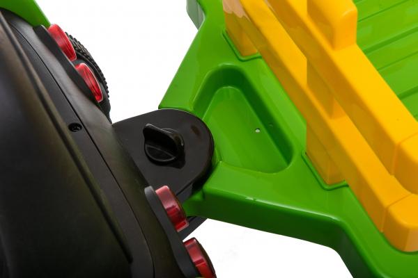 Tractor electric cu remorca Premier Farm, 12V, roti cauciuc EVA 32