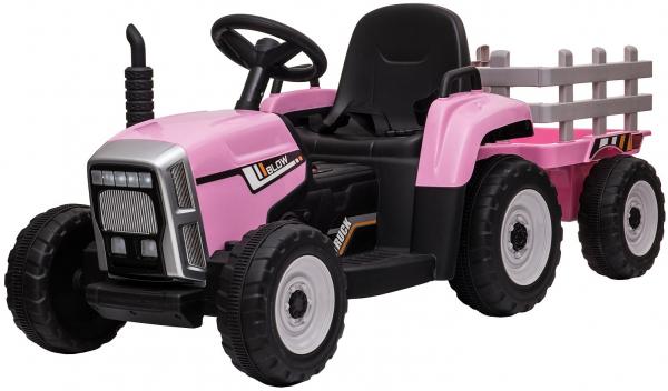 Tractor electric cu remorca Premier Farm, 12V, roti cauciuc EVA 0