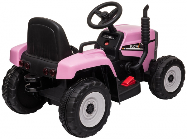 Tractor electric cu remorca Premier Farm, 12V, roti cauciuc EVA 22