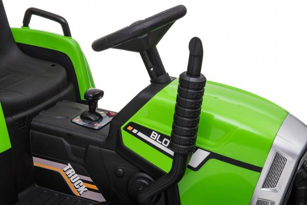 Tractor electric cu remorca Premier Farm, 12V, roti cauciuc EVA 19