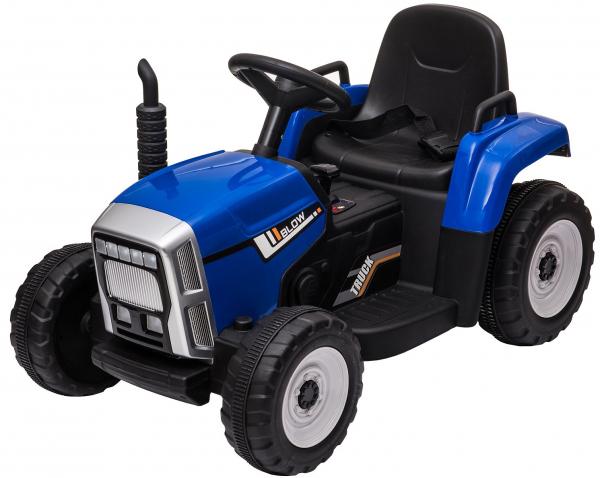 Tractor electric cu remorca Premier Farm, 12V, roti cauciuc EVA, albastru [18]