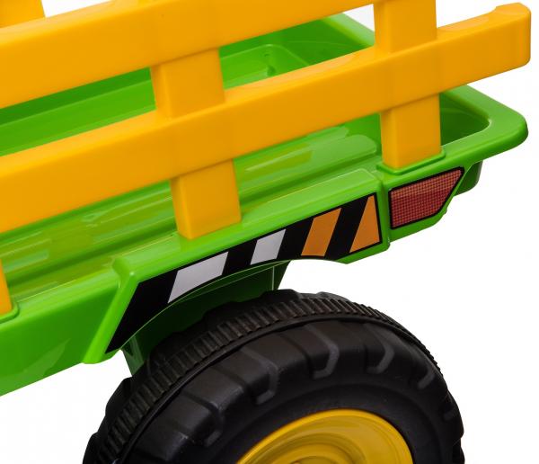 Tractor electric cu remorca Premier Farm, 12V, roti cauciuc EVA 34